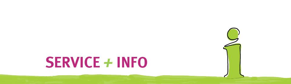 Kopfgrafik Service + Infos